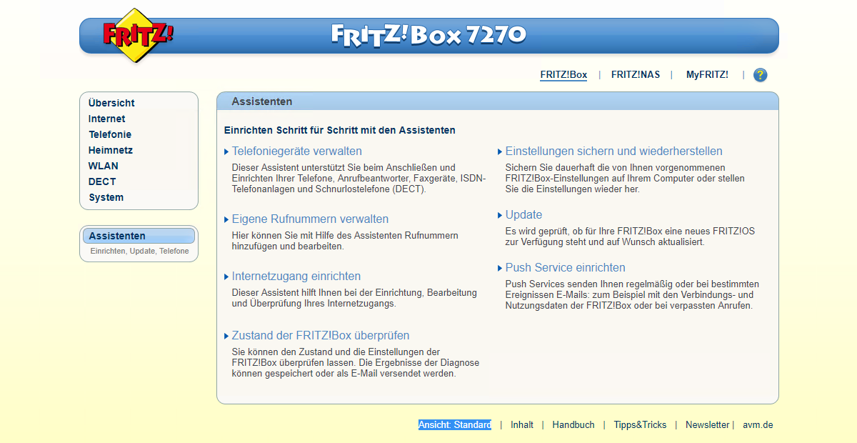 FritzBox Dashboard