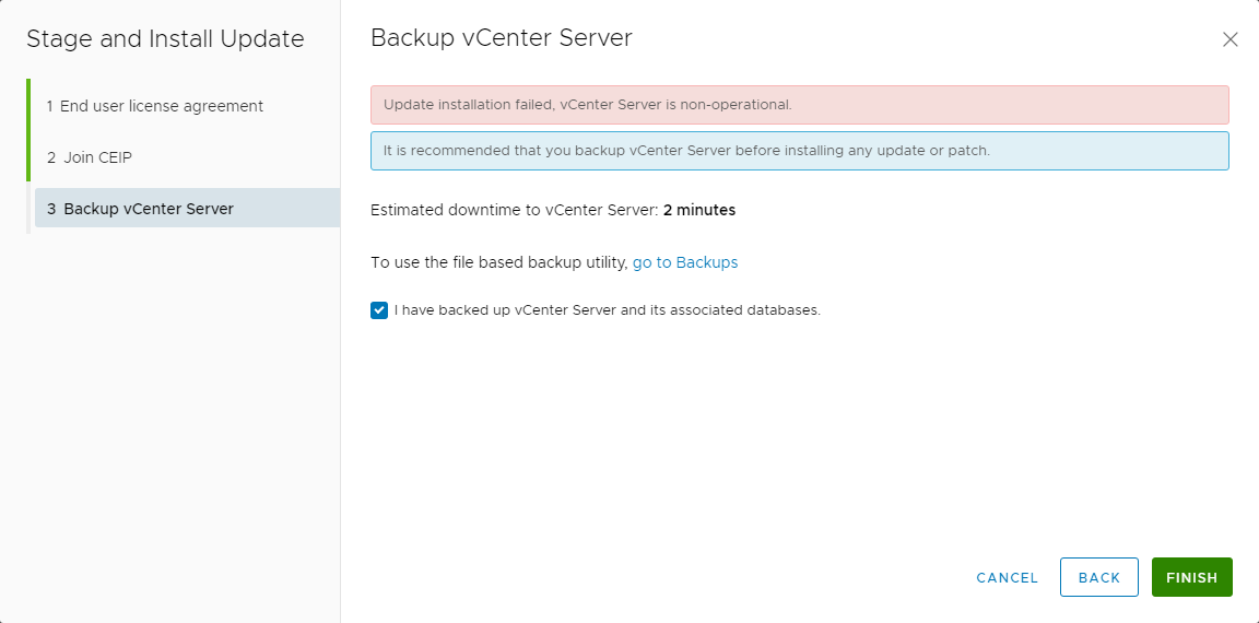 VMware vCenter Update